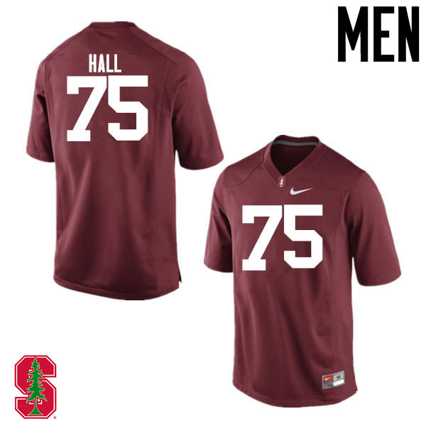 Men Stanford Cardinal #75 A.T. Hall College Football Jerseys Sale-Cardinal